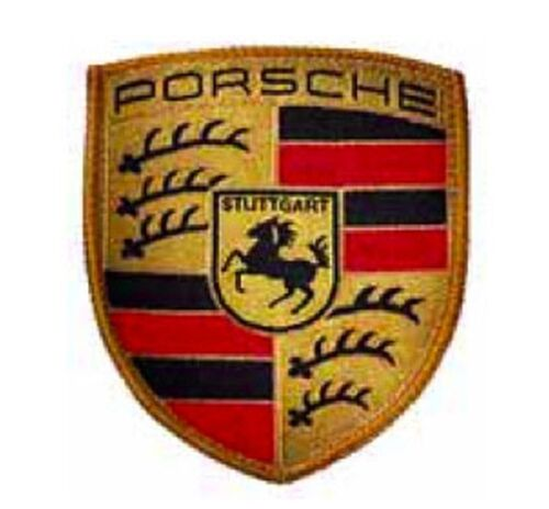Porsche Embroidered Crest Woven Sew on Patch/Badge Genuine Merchandise