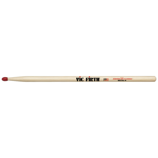 12 Pairs Vic Firth CM Wood Tip Hickory American Classic Metal Drumsticks Brick