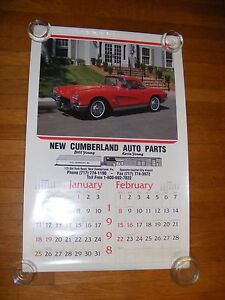 1998 Wall Calendar New Cumberland Auto Parts Classic Cars Gary Pesnell Photos Ebay