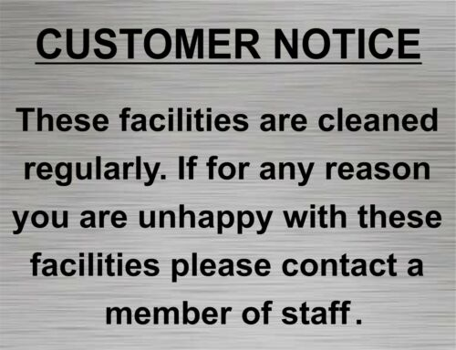 Shower Gents Bar Adhesive New Disabled Customer Notice Toilet Door Sign