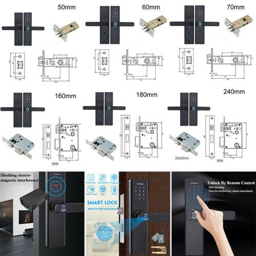 1X Elektrisch Fingerabdruck Smart Türschloss Touchcreen Keyless Digital Passwort