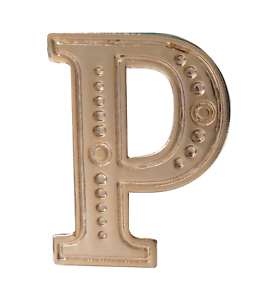 Letter P Gilded Orange Order Collarette Character