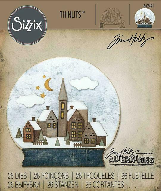SIZZIX SNOWGLOBE #2 CHRISTMAS SCENE TIM HOLTZ THINLITS CUTTING DIE SET
