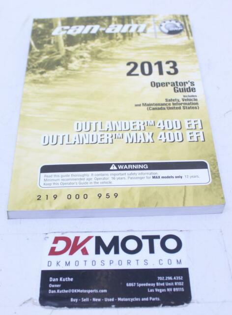 Oem Can Am 2013 Outlander 400 Efi Outlander Max400 Efi