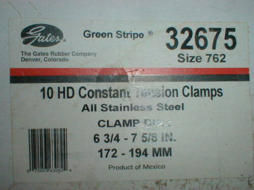 """7 1//8/"""" Ideal 10 NEW Heavy Duty Hose Clamps  Flex-Gear Constant Tension 6 1//4/"""""""