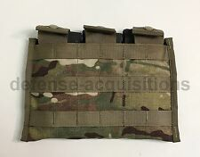 NEW Military Multicam Triple Mag Magazine Pouch MOLLE 3 X 30 Round Side By Side