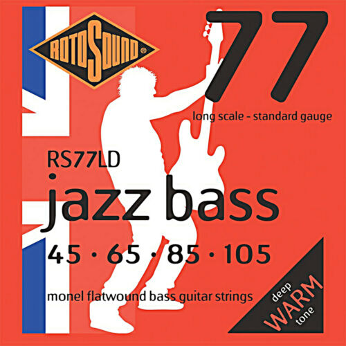 ROTOSOUND RS77LD 4 STRING BASS GUITAR STRINGS MONEL FLATWOUND 45-105