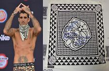 Kendall Grove Signed Bellator 143 Fight Weigh-In Worn Used Bandana BAS COA UFC