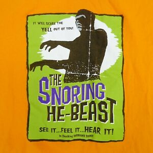 The-Snoring-He-Beast-Halloween-It-039-s-The-Thing-Monster-Orange-Tee-T-Shirt-Size-L