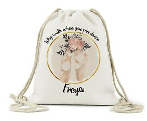 Personalised Rose Gold Unicorn Girls Sport Gym School PE Swim Ballet Dance Bag