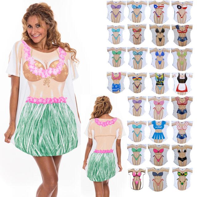 1a4c9c7cc53c6 LA Imprints Made in USA Cotton Cover-Ups T-Shirt for Women Swimwear Bikini  Beach