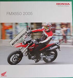 HONDA-MOTO-FMX650-2005-ADVERTISING-PUBBLICITA-DEPLIANT-CATALOGO-BROCHURE
