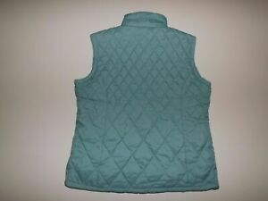 FREE-COUNTRY-Wet-Blue-Reversible-Vest-Large-Womens-NWT-Quilted-Pile-Jacket