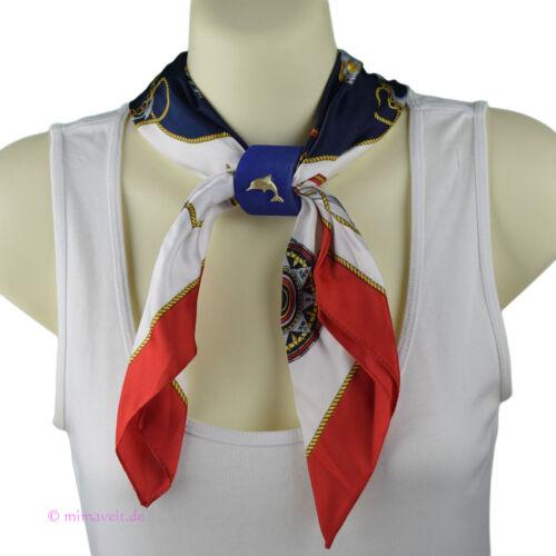 Halstuch Tuch rot Segeln See Marine Windrose Anker mit Anhänger Schalhalter