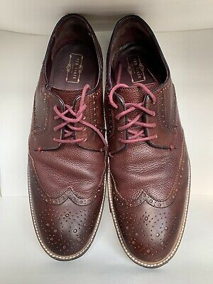 Details about  /Ted Baker Chorlten Men/'s Oxford Leather Wing Tip Lace Up Camo Pattern Sz 10 NEW
