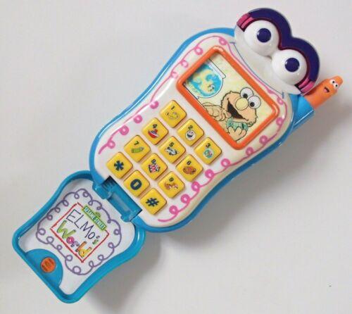 Vintage Rétro travail Sesame Street Elmo parle Flip Cell Téléphone Mobile