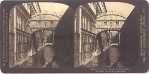 Pont Dei Sospiri Venezia Italia Stereo Antico Stereoview Vintage Analogica
