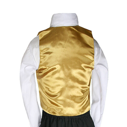 23 Color Satin Necktie Vest Set Baby Boy Toddler Teen for Formal Tuxedo Suit S-7