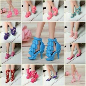40-Pairs-Different-High-Heel-Shoes-Boots-Accessories-For-Barbie-Doll