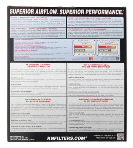 33-3077 K/&N KN Air Filter fits HYUNDAI IONIQ /& KIA NIRO 1.6L All 2016