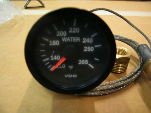 New VDO Mechanical Water Temp Gauge 110 TO 265 DEGREES 72 INCHES