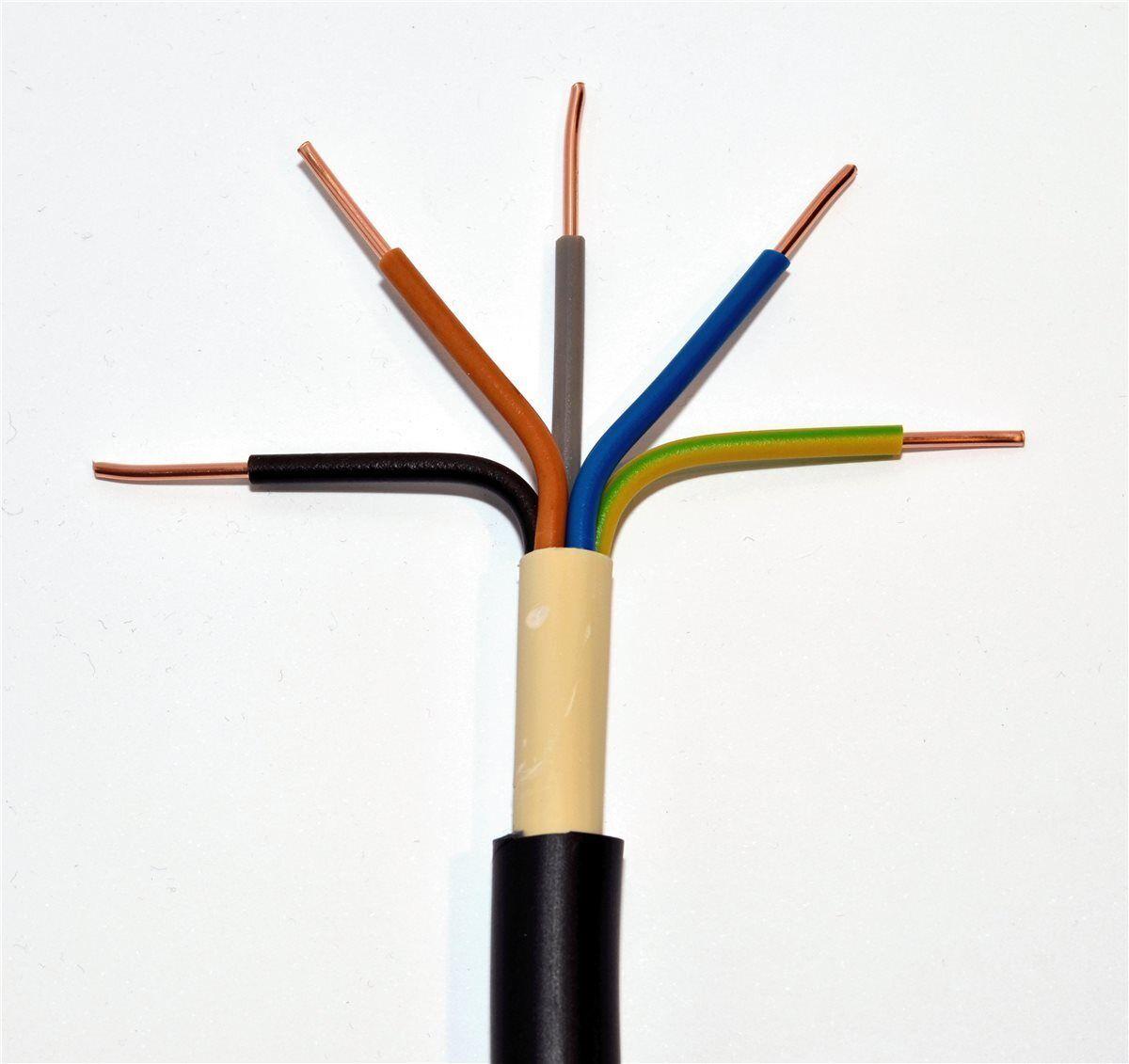 25m Erdkabel NYY-J 5x4 mm² schwarz Ring 5x4qmm Starkstromkabel Drehstromkabel