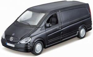 Mercedes-Benz-Vito-mattschwarz-Bburago-Street-Fire-1-32-Neu-OVP