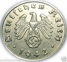Germany - German Third Reich - German 1942D Reichspfennig Coin - WW 2 Coin