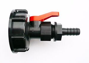 IBC-ADAPTER-S60X6-to-PP-BALL-VALVE-amp-1-2-034-Barbed-Hose-Tail