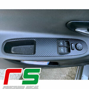 Fiat Punto Evo ADESIVI pulsantiera alzacristalli decal sticker tuning carbonlook