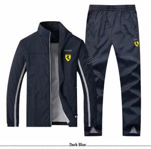 Мужской спортивный костюм спортивная куртка, пальто, верхняя тренировочный костюм брюки штаны костюмы 5 цвета