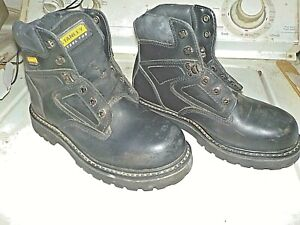 92ce40155ef Details about STANLEY; black; steel toe boots; sz 5 1/2 US / EUR-38;great  condition
