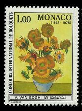 """Monaco 1978 - """"The Sunflowers"""" Painting By Van Gogh - Sc 1124 MNH"""