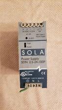 Sola Sdn 25 24 100p Power Supply 115230vac 13 07a