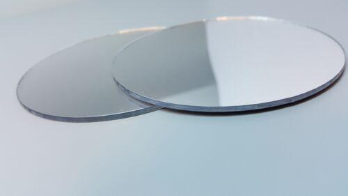 taille personnalisée 3mm épais Incassable acrylique miroir cercle forme 30 mm à 300 mm