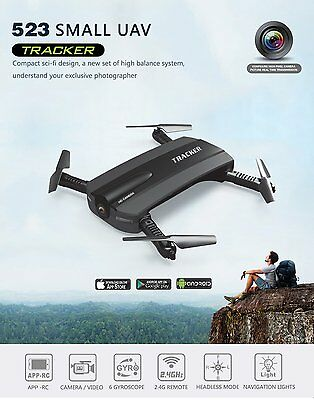 JXD 523 TRACKER SELFIE DRONE -Altitude Hold HD Camera WIFI Foldable Pocket  FPV | eBay