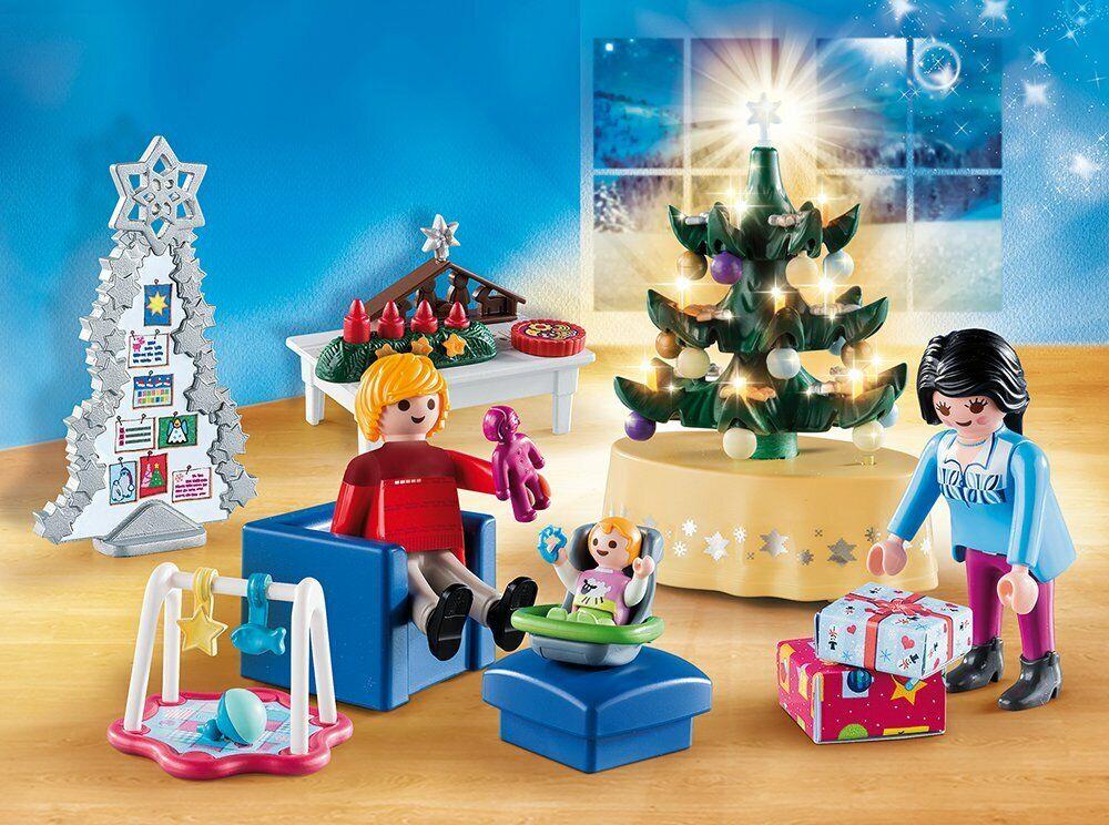PLAYMOBIL Christmas Habitación Navideña 65 piezas se Adapta Casa Moderna (9266)