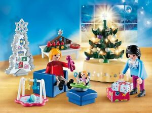 Playmobil-Christmas-Room-Christmas-65-Pieces-Fits-Home-Modern-9266
