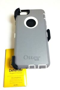 brand new f776f 9456a Details about Otterbox Defender Series Case&Clip Apple iPhone 6 iPhone 6S  GUNMETAL GRAY WHITE