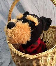 "Terrifying Black Tan Scottish Terrier Plush 10""Snubbies Toy Network Claw Machine"