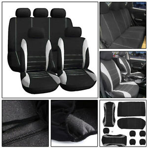 Grey-Car-Seat-Covers-Protectors-Universal-Washable-Dog-Pet-Full-Set-Front-Rear