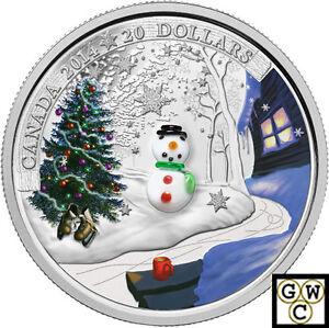 2014-039-Snowman-Murano-Glass-039-Proof-20-Silver-Coin-1oz-9999-Fine-14089-NT