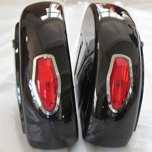 Black-Saddle-bag-w-Tail-Light-For-Honda-Shadow-600-750-VLX-Valkyrie-VT-F-VTX-LN