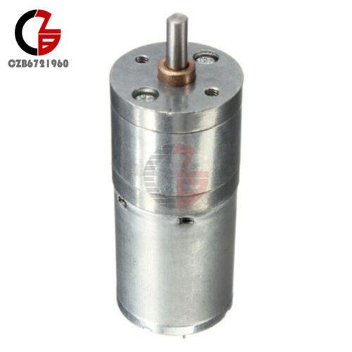 Speed Reduction Gear Motor Electric 12V DC 60RPM Powerful Torque 25mm Dia BSG