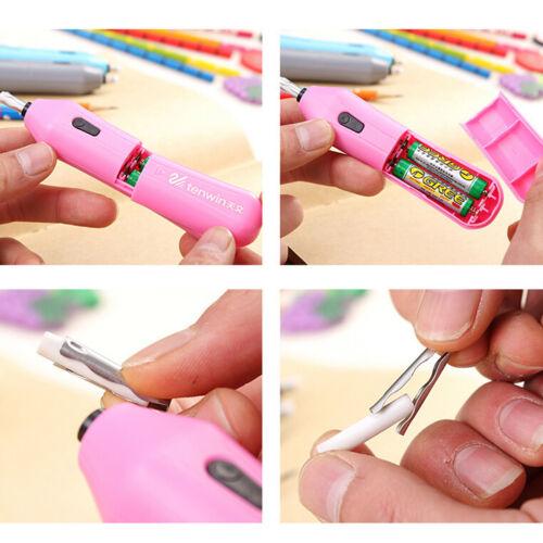 Elektrische Radiergummi Refill Bleistift Radiergummis Kid Mini Rubber School ZP