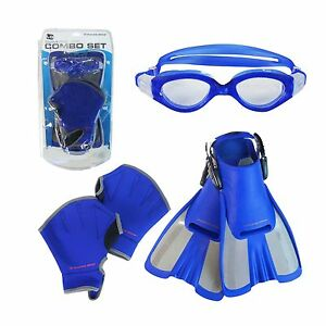 Fitness Gear Swimming Water Aerobics Set Large  Goggles Fins amp Gloves - <span itemprop='availableAtOrFrom'>North Shields, United Kingdom</span> - Fitness Gear Swimming Water Aerobics Set Large  Goggles Fins amp Gloves - North Shields, United Kingdom