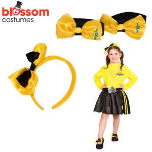 The Wiggles EMMA Girl Costume Child Yellow Dress FREE Headband Shoe Bows TODDLER