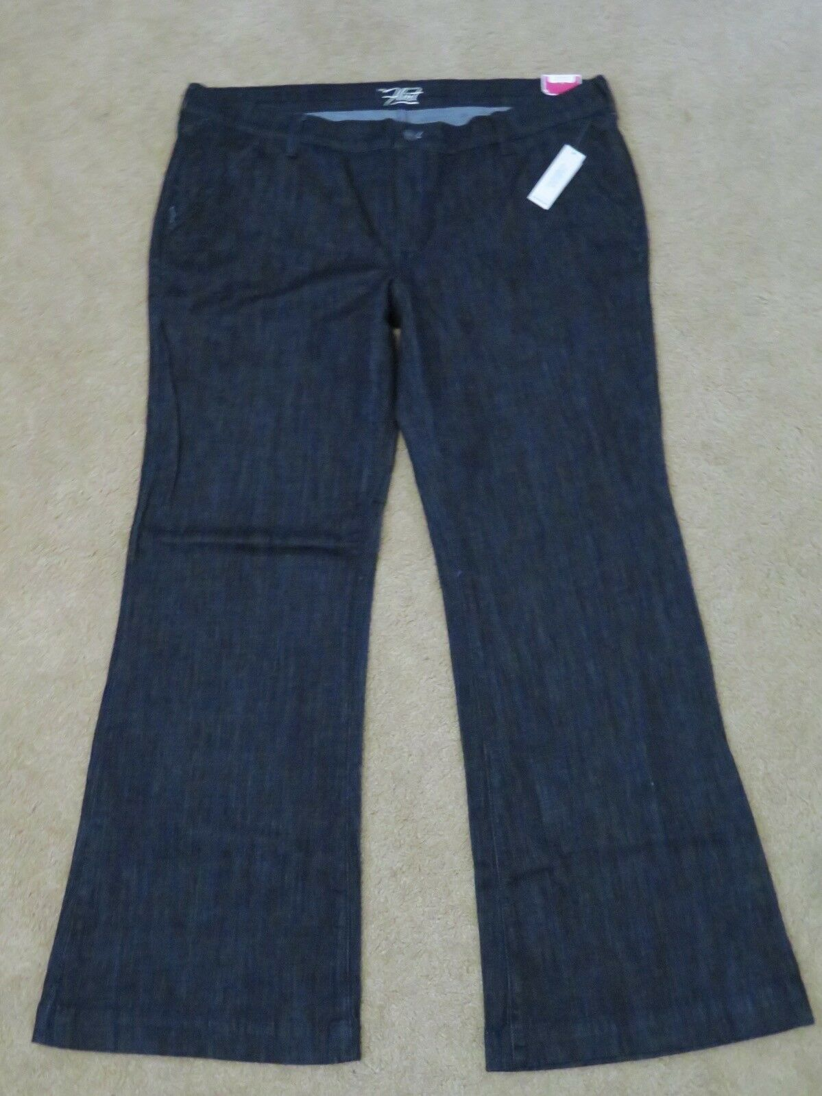 New with Tags Women's Old Navy The Flirt Trouser Mid Rise bluee Jeans Pants Sz 16