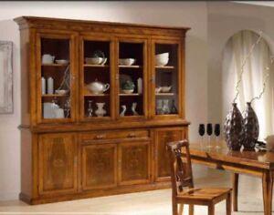 Credenza In Arte Povera Con Vetrina : Credenza arte povera legno credenze vetrina cristalliera classiche