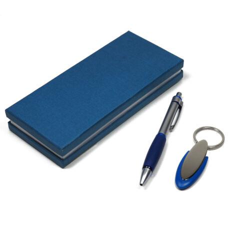 Schreibset mit Metall Kugelschreiber und Schlüsselanhänger in Geschenkbox